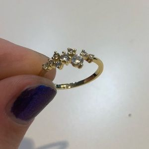 CZ size 6 gold plated ring